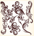 collection of decorative swirl elements vector image vector image