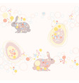 cute seamless Easter rabbit an vector image vector image