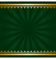 dark green background with golden decorations vector image vector image