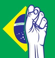 fist brasil resize vector image vector image