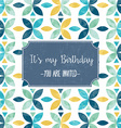 floral birthday party invitation vector image vector image