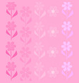 flowers are pink vector image vector image