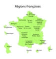 France administrative map with new regions vector image vector image