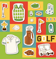 golf seamless pattern golfers sportswear vector image vector image