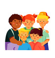 happy preschool children - colorful flat design vector image