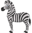 Happy zebra cartoon vector image