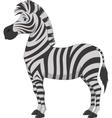 Happy zebra cartoon vector image vector image