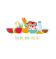 healthy balance diet food best meals for life vector image vector image