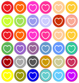 Heart sign icon love symbol vector image