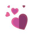 hearts cartoon romantic vector image