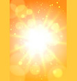 hot sun background vector image