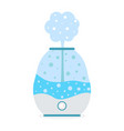 humidifier air with steam icon purifier vector image vector image