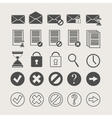 icons of documents and mail vector image vector image