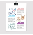 Infographics elements sketch on old sheet of paper vector image vector image