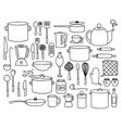 kitchen doodle vector image