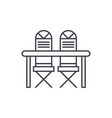 kitchen table and chairs line icon concept vector image vector image