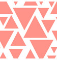 living coral abstract triangles seamless pattern vector image