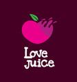 love juice fruit logo icon vector image