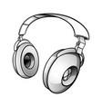 modern dj headphones vector image vector image