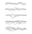 music sound waves vector image vector image