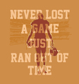 never lost a game football vector image vector image