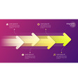paper style timeline infographic concept with vector image vector image