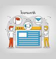 people teamwork concept vector image