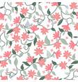 pink and green botanical floral flower seamless vector image