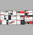 red and white element for slide infographic on vector image vector image