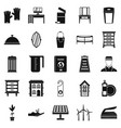 refinement icons set simple style vector image vector image