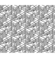 seamless black and white shaded isometric vector image
