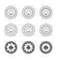 Set of casino gambling chips vector image vector image