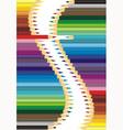 Sets crayons vector image