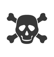 Skull icon Death design graphic vector image