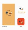 solar panel company logo app icon and splash page vector image