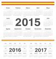 Spanish circle calendars 2015 2016 2017 vector image vector image
