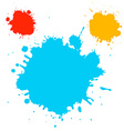 Splashes - Blots - Stains Blue Red and Ora vector image vector image