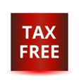 Tax free red web glossy icon vector image vector image