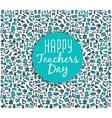 Teachers daySchool doodles Supplies Sketchy vector image