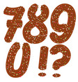 tempting tipography font design 3d numbers 7890 vector image