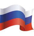 the flag of russia vector image vector image