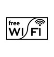 thin line free wifi icon vector image vector image
