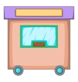 Travel trailer icon cartoon style vector image vector image