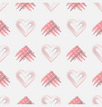 valentines day background with grunge hearts and vector image vector image