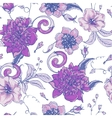 vintage botanical seamless pattern with blooming vector image vector image