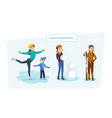winter outdoor people do their favorite hobby in vector image vector image