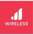 wireless network logo for business flat style vector image vector image