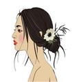 young beautiful asian woman vector image