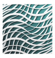 paper waves 3d realistic template design vector image
