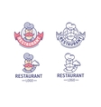 Restaurant logo set vector image